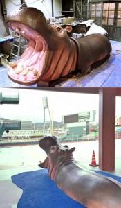 MAZDA Zoom-Zoom スタジアム広島(マツダスタジアム)|3代目かーぱくん|立体造形| 大阪の造形屋 atelier Loji(アトリエ・ロジ)