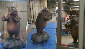 子カバ|立体造形| 大阪の造形屋 atelier Loji(アトリエ・ロジ)