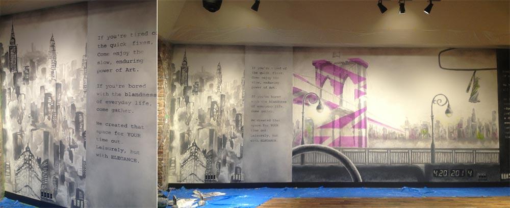 壁画|施工例|大阪の造形屋 atelier Loji(アトリエ ロジ)