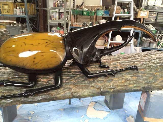 ヘラクレスオオカブト|Dynastes hercules|FRP造形|立体造形|大阪の造形屋 atelier Loji(アトリエ・ロジ)
